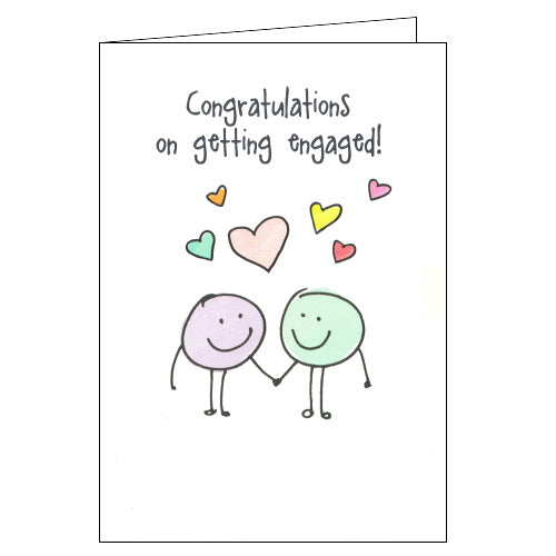 Lucilla Lavender congratulations on your engagement card