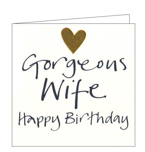 Lucilla Lavender gorgeous wife birthday card