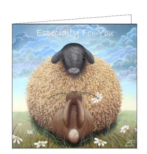 Lucy Pittaway pastel art especially for you friendship sheep blank card Nickery Nook