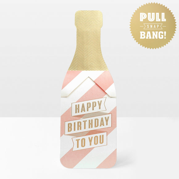 My Design Co pop cracker champagne birthday card Nickery Nook
