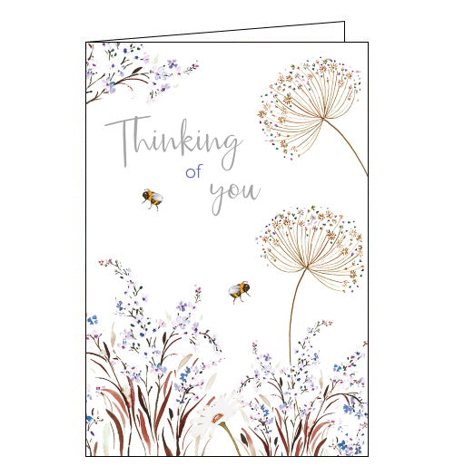 Nigel Quiney bees and flowers thinking of you card