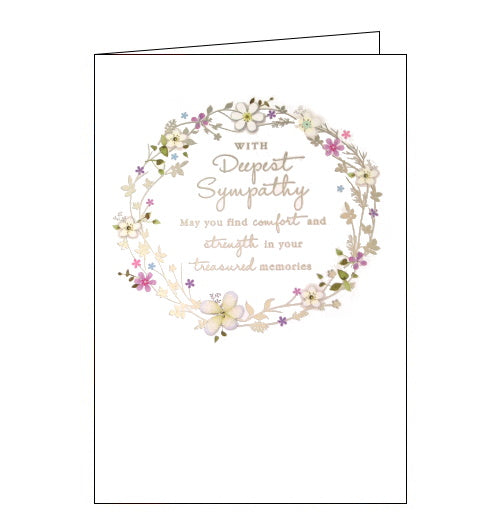Nigel Quiney floral wreath deepest sympathy card