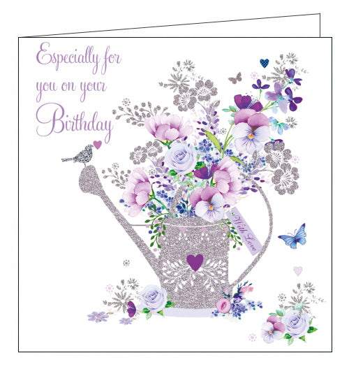 Nigel Quiney flowers watering can birthday card