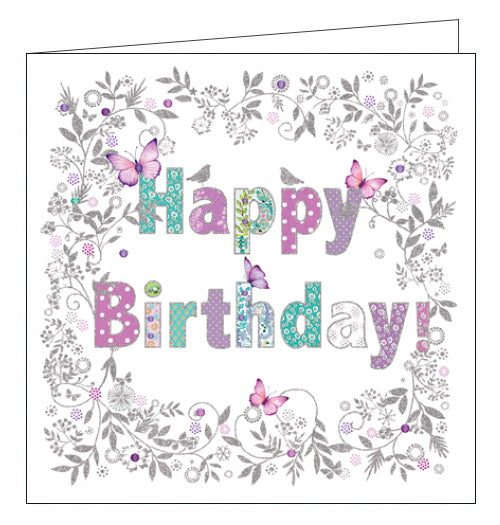 Nigel Quiney pink butterflies happy birthday card