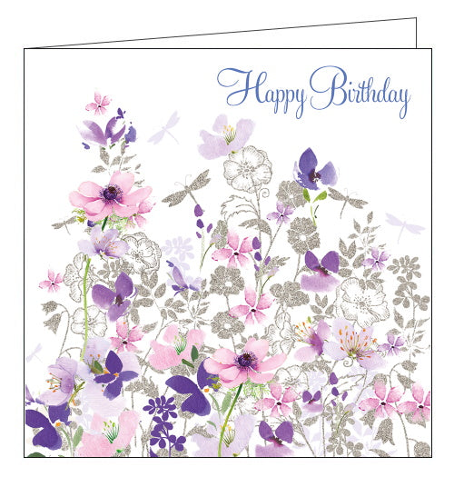 Nigel Quiney silver dragonflies happy birthday card