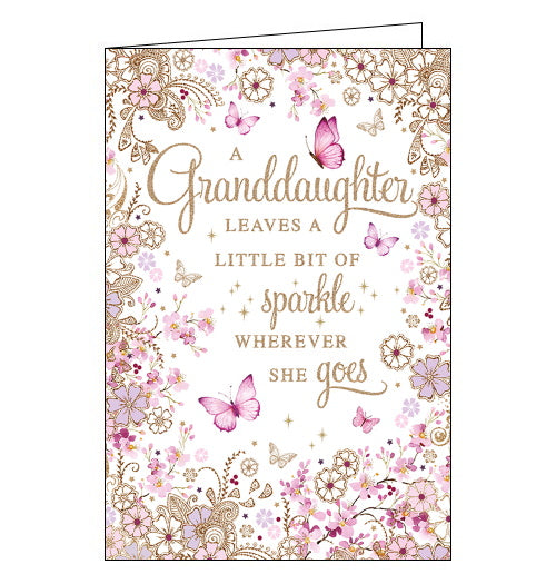 Nigel Quiney sparkle and butterflies granddaughter birthday card