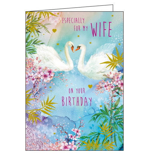 Nigel Quiney swans wife birthday card