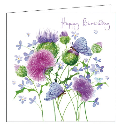 Nigel Quiney thistle happy birthday card