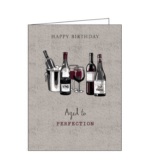 Noel Tatt aged to perfection wine birthday card