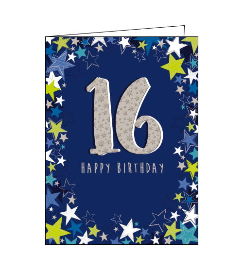 Noel Tatt blue 16th birthday card