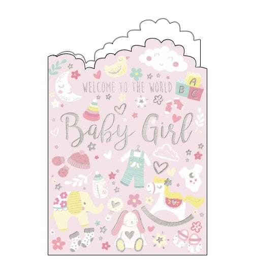 Noel Tatt congratulations on your new baby girl card