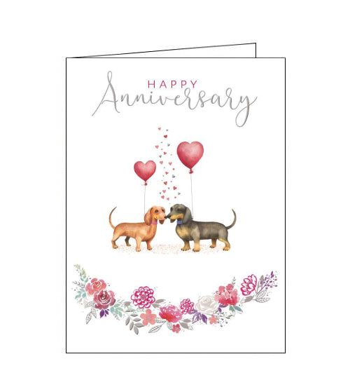 Noel Tatt dogs happy anniversary card