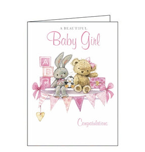 Noel Tatt new baby girl card