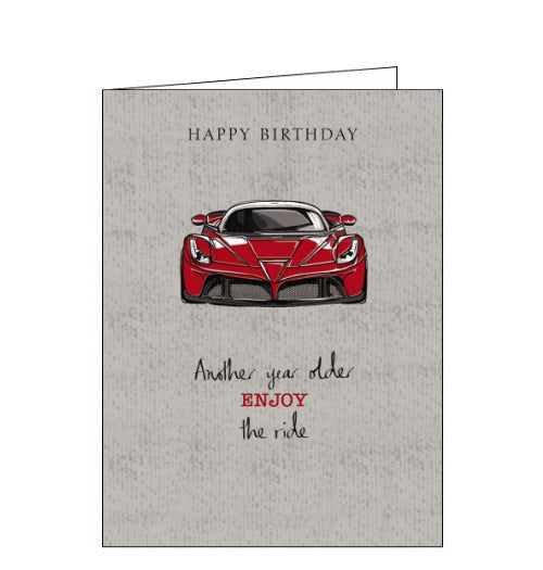 Noel Tatt sports car birthday card