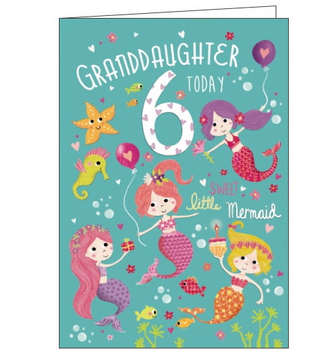 Noel Tatt Milestones granddaughter 6 today 6th birthday card Nickery Nook