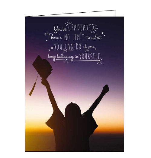 Noel Tatt believe in yourself you've graduated congratulations card Nickery Nook