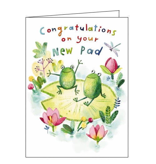 Noel Tatt congratulations on your new pad cute frogs new home card Nickery Nook