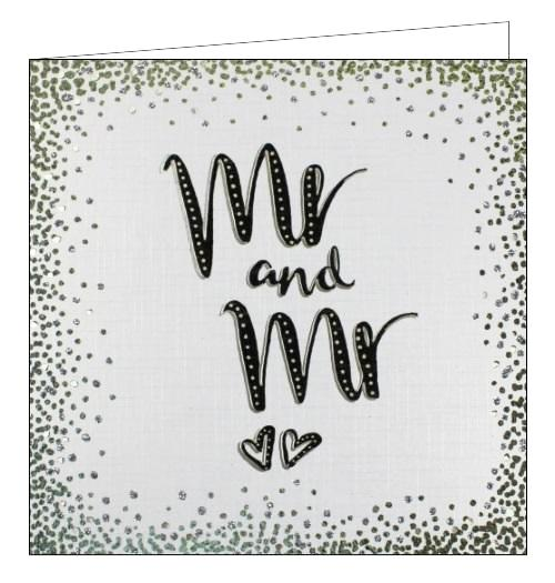 Noel Tatt congratulations on your wedding day mr and mr wedding card Nickery Nook
