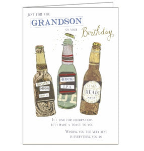 Noel Tatt grandson birthday cards happy birthday grandson beers Nickery Nook