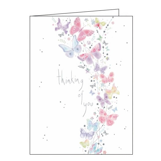 Noel Tatt thinking of you floral flowers butterflies card Nickery Nook