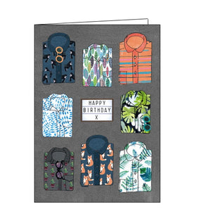 Paper Salad mens shirts birthday card