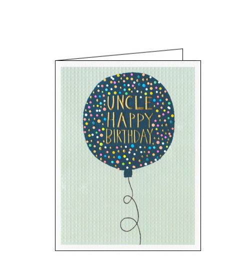 Paper Salad uncle Birthday card