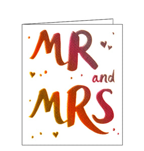 Paperlink Mr and Mrs Congratulations on your wedding day card