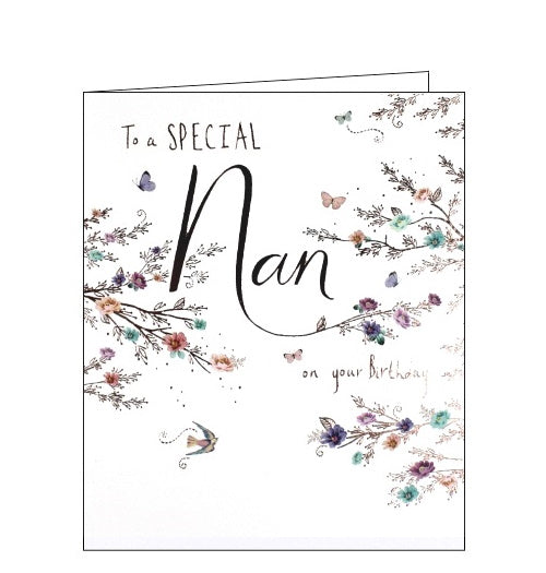 Paperlink To a Special nan on your Birthday Happy Birthday Nan card Nickery Nook
