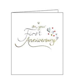 Paperlink congratulations on your first anniversary card Nickery nook