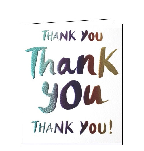 Paperlink thank you thank you thank you card Nickery nook
