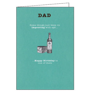 Paperlink improving with age dad birthday card