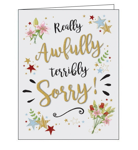 Piccadilly Gold Dust awfully terribly sorry card