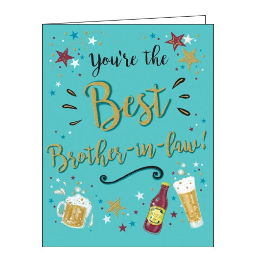 Piccadilly Gold Dust best brother-in-law brother in law birthday card Nickery Nook