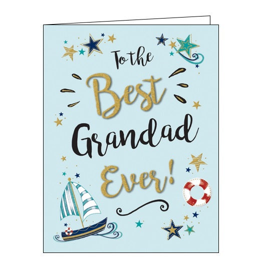 Piccadilly Gold Dust best grandad birthday card Nickery Nook