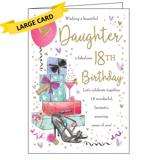 Piccadilly Goldmark daughter 18th birthday card Nickery Nook