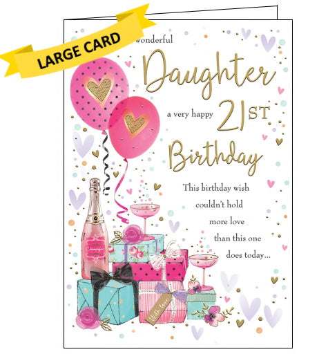 Piccadilly Goldmark daughter 21st birthday card Nickery Nook