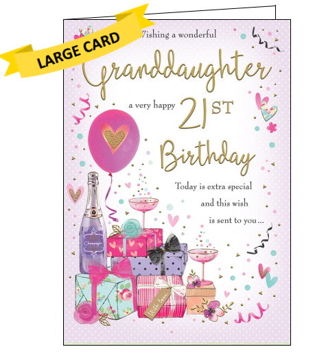 Granddaughter 21st Birthday Card