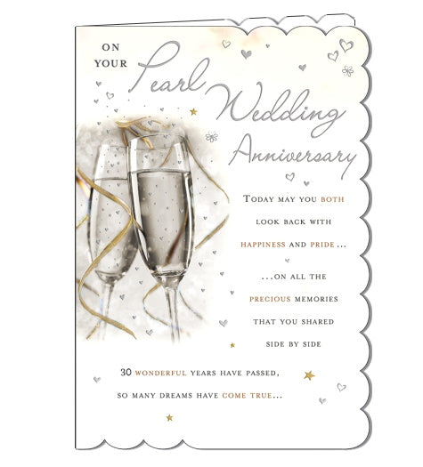 Piccadilly Goldmark on your pearl wedding anniversary card Nickery Nook