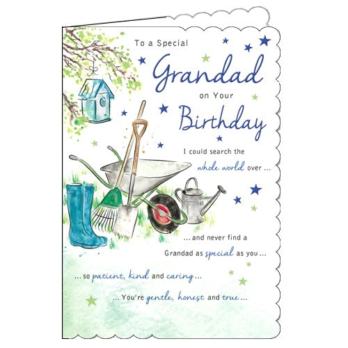 Piccadilly With Love birthday card for grandad gardening birthday card Nickery Nook