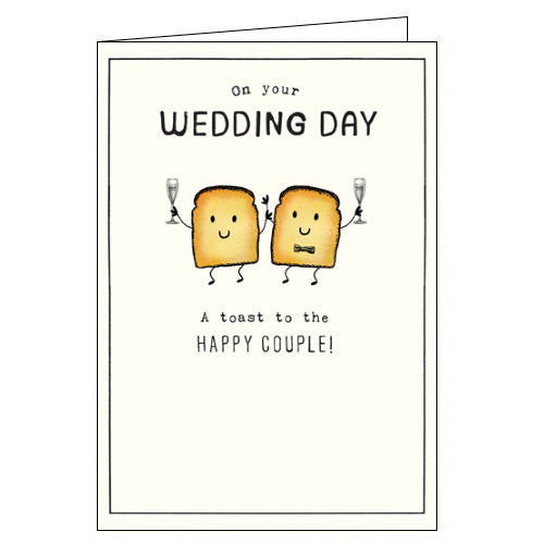 A Toast to the Happy Couple - Wedding Day card