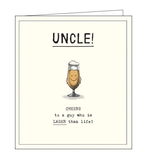 Pigment Etched lager beer uncle birthday card