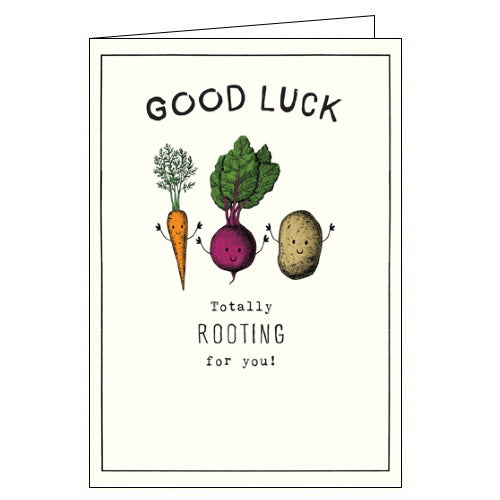 Pigment Etched totally rooting for you good luck card
