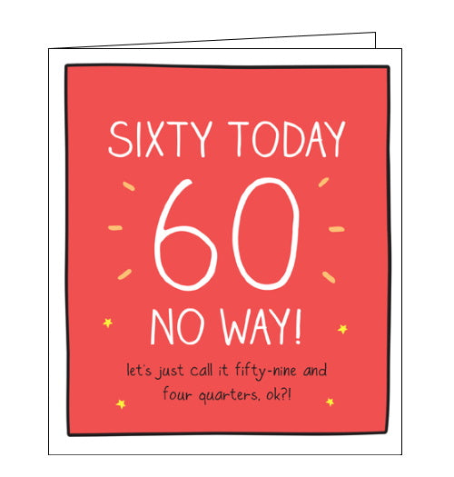 Pigment Happy Jackson 59 and 4 quarters 60th birthday card