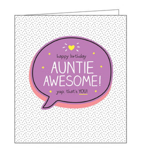 Pigment Happy Jackson auntie birthday card