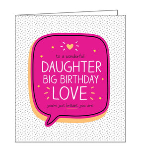 Pigment Happy Jackson birthday card for daughter