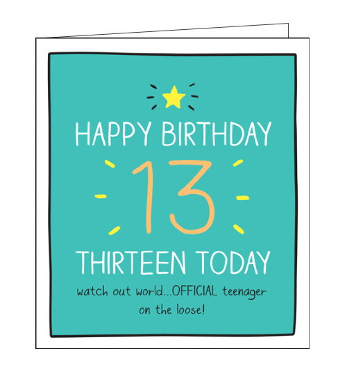 Pigment Happy Jackson official teenage 13th birthday card