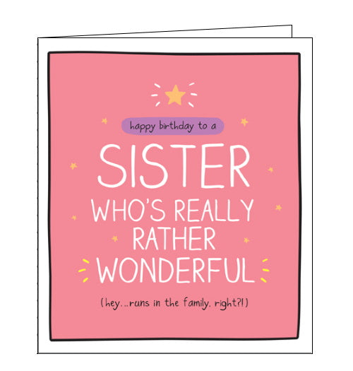Pigment Happy Jackson wonderful sister birthday card