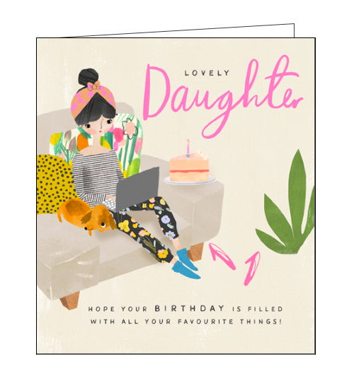 Pigment daughter birthday card