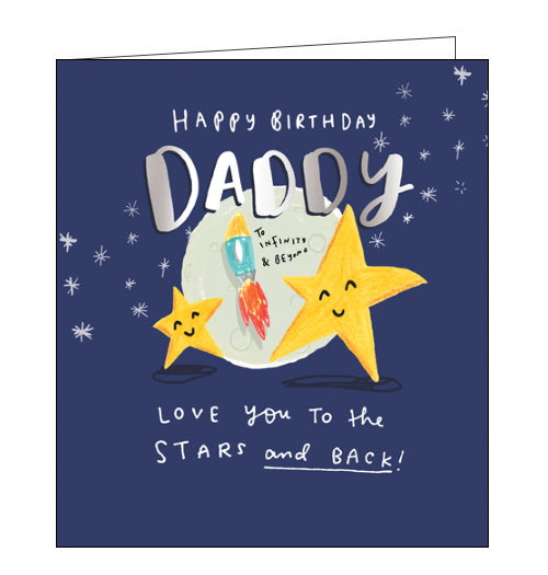 Pigment love you to the stars and back daddy birthday card
