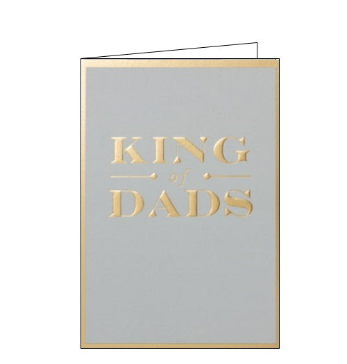 Postco happy birthday king of Dads birthday card Nickery Nook